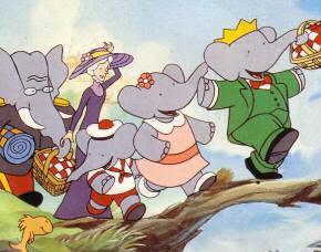 babar dibujo animado elefante